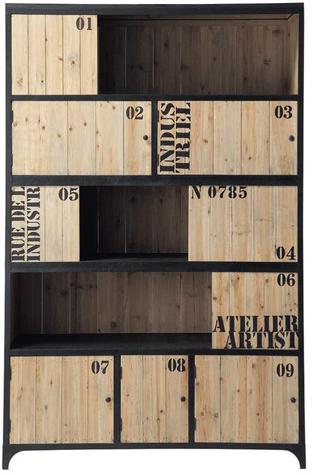 Bibliothèque docks noir métal