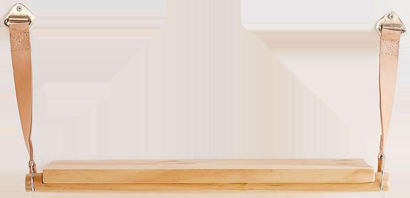 étagère harper avec lanières en cuir
