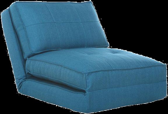 Chauffeuse convertible design bleu sally