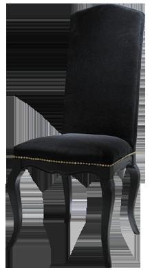 Chaise noire barocco