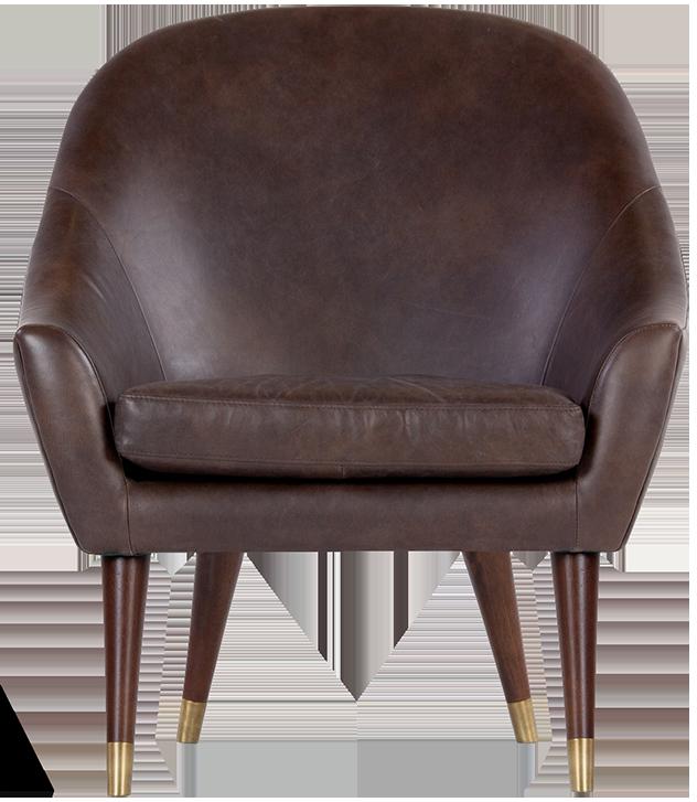 Fauteuil en cuir supérieur seattle brun