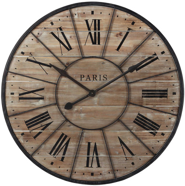 horloge valmy m tal en bois mydecolab. Black Bedroom Furniture Sets. Home Design Ideas