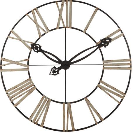 Horloge lincoln noir métal