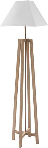 Lampadaire square blanc en bois