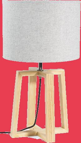 Lampe hedmark gris en bois