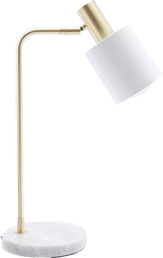 Lampe de bureau en marbre
