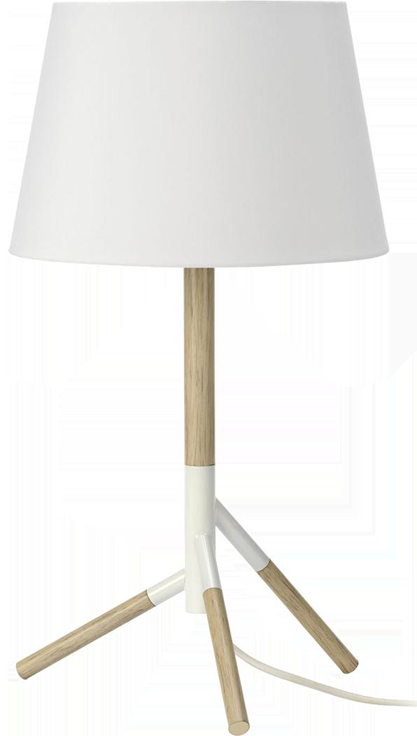 Lampe mathias tissu blanc