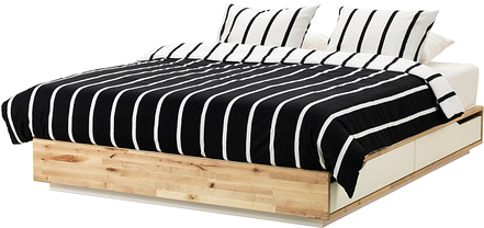 mandal cadre lit avec rangement mydecolab. Black Bedroom Furniture Sets. Home Design Ideas