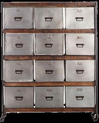 Meuble de rangement design 12 tiroirs loft