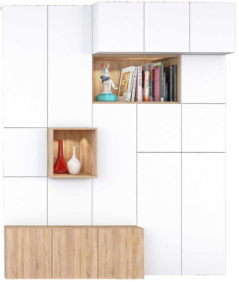 meuble spaceo bois mydecolab. Black Bedroom Furniture Sets. Home Design Ideas