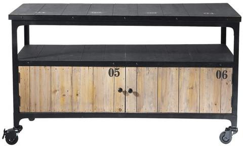 Meuble tv docks noir métal