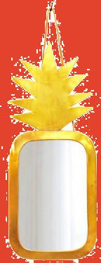 Miroir ananas 30x20 cm