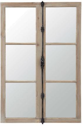 Miroir vaucluse noir métal en bois