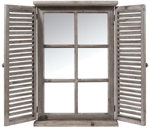 Miroir constance en bois