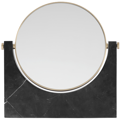 Miroir en marbre noir pepe - menu