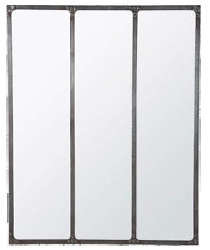Miroir cargo rouille métal 1