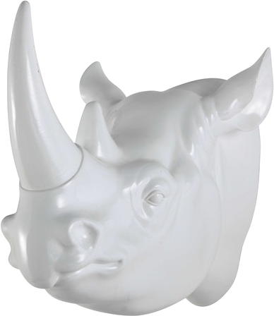 Trophée mural baako blanc