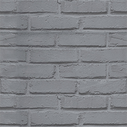 Papier peint brique loft argent