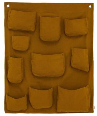 Pochette murale - jaune moutarde