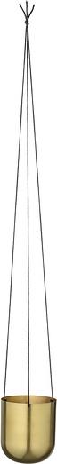 Pot de fleur à suspendre hanging laiton - bloomingville