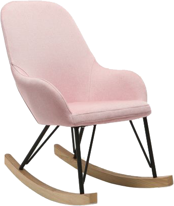 fauteuil relax baby rocking chair tissu rose pieds m tal et. Black Bedroom Furniture Sets. Home Design Ideas