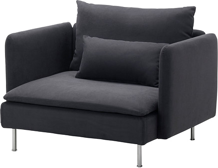 Söderhamn - fauteuil gris