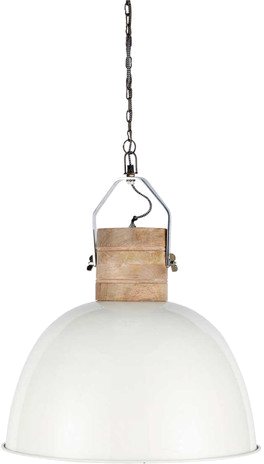 Suspension finmark blanc métal en bois