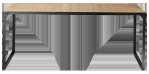 Table docks métal en bois