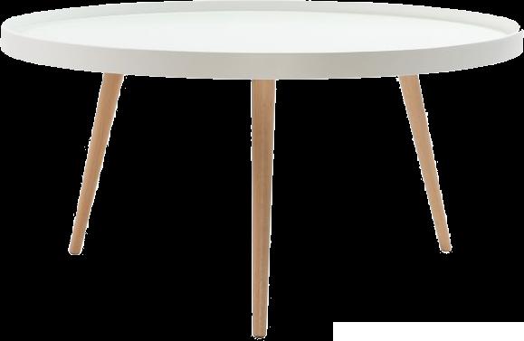 Table basse design blanche et bois 90cm rix