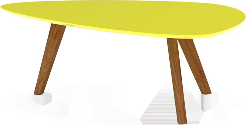 Table basse jaune mat pieds bois clair - svartan | MYDECOLAB