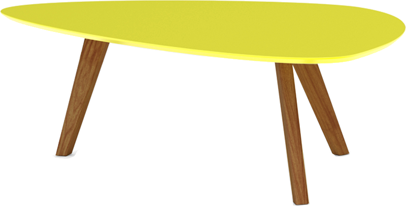 table basse jaune mat pieds bois clair svartan mydecolab. Black Bedroom Furniture Sets. Home Design Ideas