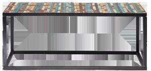 Table basse bahia multicolore métal en bois