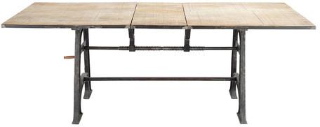 Table à manger manivelle métal