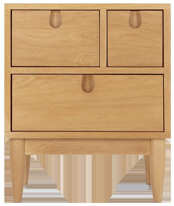 Table de nuit à tiroirs penn chêne