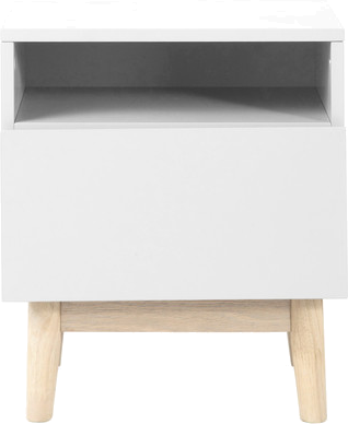 Table de chevet artic blanc en bois