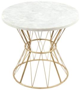 Table tamtam marbre multicolore