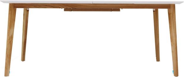 Table A Diner Rectangulaire Blanc Avec Rallonge Bois Svartan