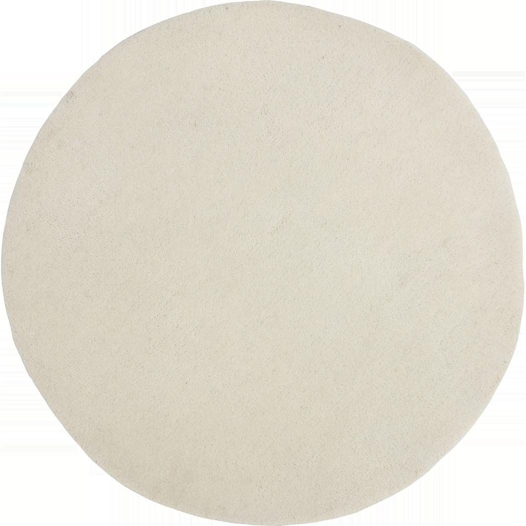 Tapis rond blanc ivoire