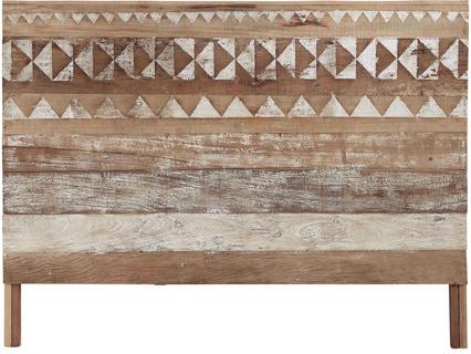 Tête-de-lit tikka en bois