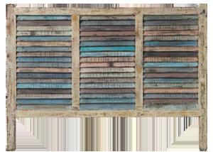 Tête de lit en bois recyclé bahia