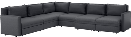 Vallentuna - canapé angle 6pl + couch